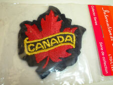 Vintage Embroidered Maple Leaf Canada Souvenir Travel Patch NEW NOS