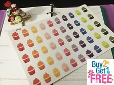 PP203 -- Small Cupcakes Life Planner Stickers for Erin Condren (50pcs )