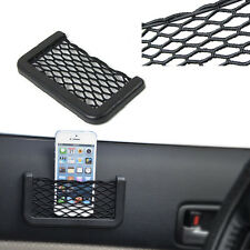 Black Elastic Cargo Net Mesh Storage Organizer Bag For Car Seat Back Trunk Mount