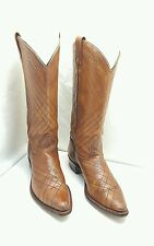 TEXAS BRAND WOMEN 6.5M WESTERN RODEO COWGIRL RIDING BOOTS MADE IN USA VINTAGE