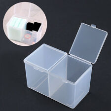 Nail Polish Gel Glitter Storage Box 2-Compartments Clear Manicure Container Tool
