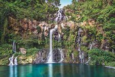 Vlies Fototapete Cascade XXL4-026 Dschungel Wasserfall See 368 x 248 Bergsee