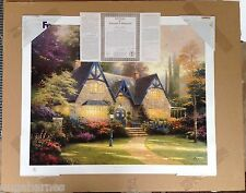 Multi-SIGN Mint THOMAS KINKADE unframed WINSOR MANOR Paper Litho 24x30 PP #1 COA
