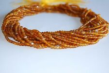 Natural Amber Color Agate Faceted Round Gemstone Loose Beads 3mm