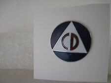 19??  CD civil defense  vintage logo   pin   (2x11) #