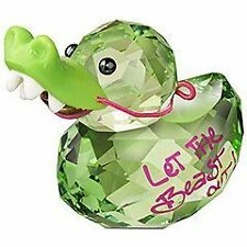 SWAROVSKI CRYSTAL LOVLOT HAPPY DUCK CROCODILE DUCK 1143324 MINT BOXED RETIRED RA