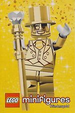 LEGO MR GOLD STICKER ~ Large 2013 Series 10 Minifigure Sticker #findmrgold  NEW