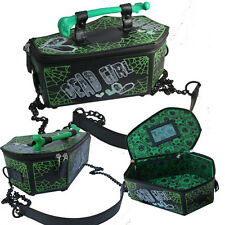 New Gothic Horror Dead Girl Green Black White Coffin Bag Purse Bone Christmas