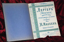 Original Antique Very Rare French Goethe Werther complete opera acts book 1903