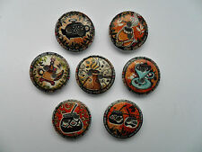 25 pcs  Mixed Teatime Wood Scrapbooking //  Sewing Buttons 15mm