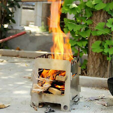 Portable Lightweight Folding Wood Stove Outdoor Cooking Camping Hiking Stove New