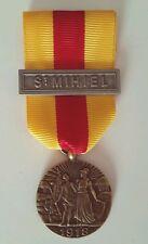 Médaille de saint-Mihiel 1918 modèle Delande avec barrette St. Mihiel Refrappe