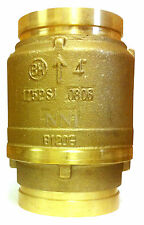 """4"""" CHECK VALVE BRASS BODY GROOVED ENDS 175Psi  UL/FM - FIRE PROTECTION"""