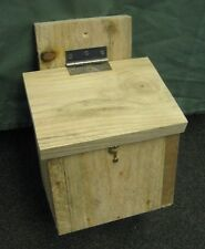 Handmade wooden Stebbings/Walsh Bat Box house - Hinged roof - untreated timber