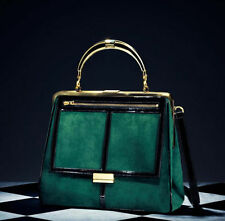 BNWT Balmain x H&M Green Velvet Suede Effect Bag With Official Cover Bag