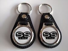 CHEVY SS 350 KEYCHAIN 2 PACK CLASSIC MUSCLE CAR LOGO  NOVA CAMARO IMPALA ECT