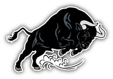 Bull Attack Car Bumper Sticker Decal 5'' x 3''