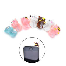 7X Cute Cartoon 3.5mm Anti Dust Earphone Jack Plug Stopper Cap For Mobile Phone