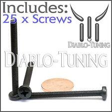 M4 x 45mm - Qty 25 - Phillips Pan Head Machine Screws - DIN 7985 A - Black Steel
