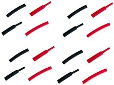 6mm ALTA TEMPERATURA CALORE SHRINK tubing Sleeving Lunghezza 50mm X16 8 Rosso 8 Nero