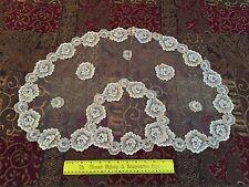 "Vintage Desco Princess Victorian Antique Ivory Lace Mantilla 27""x18"""