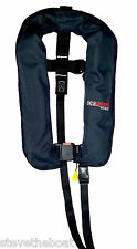Brand New Seaguard Manual Gas Life Jacket - Navy Blue