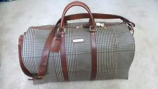 $455 Polo Ralph Lauren Houndstooth PVC & Leather Duffle Messenger Gym Travel Bag