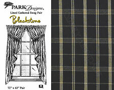 Blackstone Lined Gathered Swag by Park Designs, 72 inch x 63 inch, Black & Tan