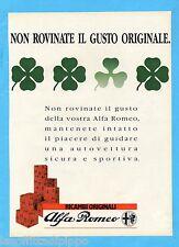 QUATTROR989-PUBBLICITA'/ADVERTISING-1989- ALFA ROMEO - RICAMBI ORIGINALI