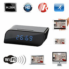 Wireless Wifi IP HD 720P Spy Hidden Clock Camera Motion IR Nanny Network Cam DVR