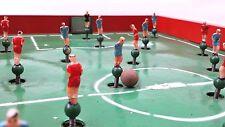 FOOTBALL DE TABLE JOUEURS MONTÉS SUR RESSORTS ANCIEN JEU MARQUE KRAKPOL POLOGNE