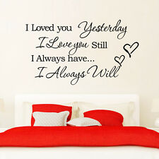 I love you always heart quote Removable Room Vinyl Decal Art DIY Wall Sticker