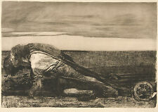 Kathe Kollwitz Reproduction: The Ploughman - Fine Art Print