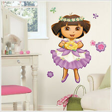 "DORA THE EXPLORER Enchanted Forest wall stickers 36"" MURAL decal room decor NEW!"
