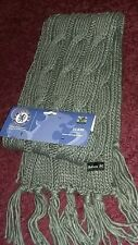 CHELSEA Ladies GREY  long cable knit scarf BNWT cfc football club