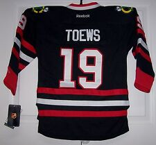 TOEWS Chicago Blackhawks Reebok Premier BLACK Jersey XL