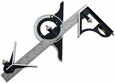 "Am-Tech 12"" Combination Square and Protractor With Angle finder Rule Ruler P4010"