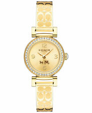 NWT Coach WOMEN'S SIGNATURE ETCHED Gold Plated Tone BANGLE WATCH 24mm 14502202