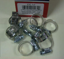 """STAINLESS STEEL BAND HOSE CLAMP 1/2""""-1-1/4"""" AMGAUGE #12 CLAMPS 10 PIECES"""