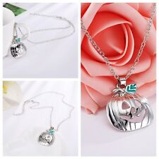 1pc Halloween Pumpkins Hollow Skeleton Clavicle Alloy Necklace Chain Pendant New