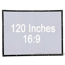 120 Inch 16:9 Wall Mounted Portable Projection Screen for LED DLP 3D Projectors