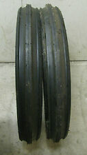 400X19, 4.00-19, 400-19 F2 Triple Rib FORD 2N 9N Front Tractor Tires with Tubes