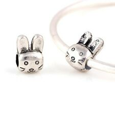 cute silver rabbit bunny love easter cartoon Charm PD charms bead beads gift UK