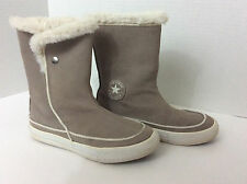 CONVERSE ALL STAR Beverly Taupe Suede Mid-Calf Sneaker Boots Womens 5 35.5
