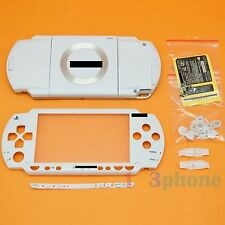 FULL HOUSING UMD COVER+OUTER LENS+BUTTON SET+SCREW SET FOR SONY PSP 1000 WHITE