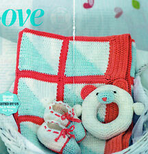 ~ Baby Crochet Pattern For Blanket, Bootees & Toy To Crochet ~