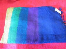 Warm soft large striped RAINBOW shawl wrap from India. Great gift!.