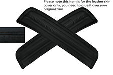 BLACK STITCHING 2X REAR DOOR SILL TRIM SKIN COVERS FITS HONDA ACCORD MK7 03-07