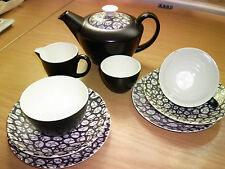 "Poole Pottery Negro Guijarro ""Tea for Two"" Teaset"