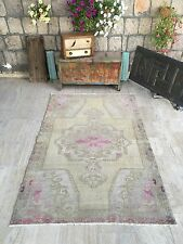 FREE SHIPPING! Oushak Rug 4.5x7.4ft Muted Color Rug Pink Rug Cappadocia Rug